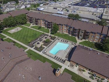 Village 1 Apartments Community Aerial Photo