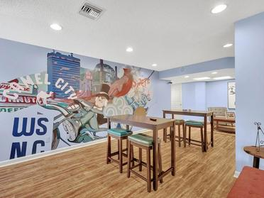 Clubhouse Mural | Vivo Apartments in Winston Salem, NC