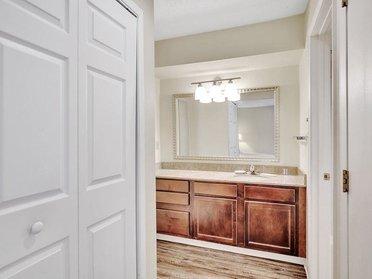 Closet and Bathroom | Vivo Apartments in Winston Salem, NC