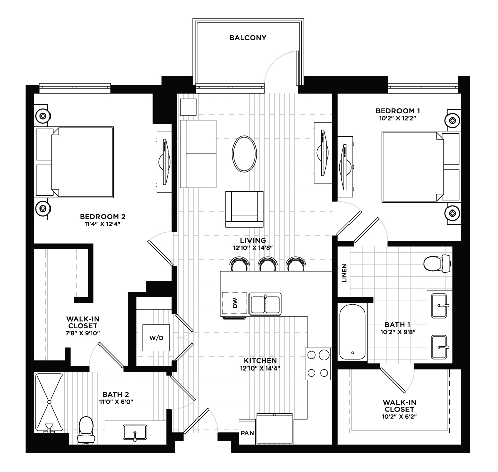Hayden 1 - 2 Bedroom