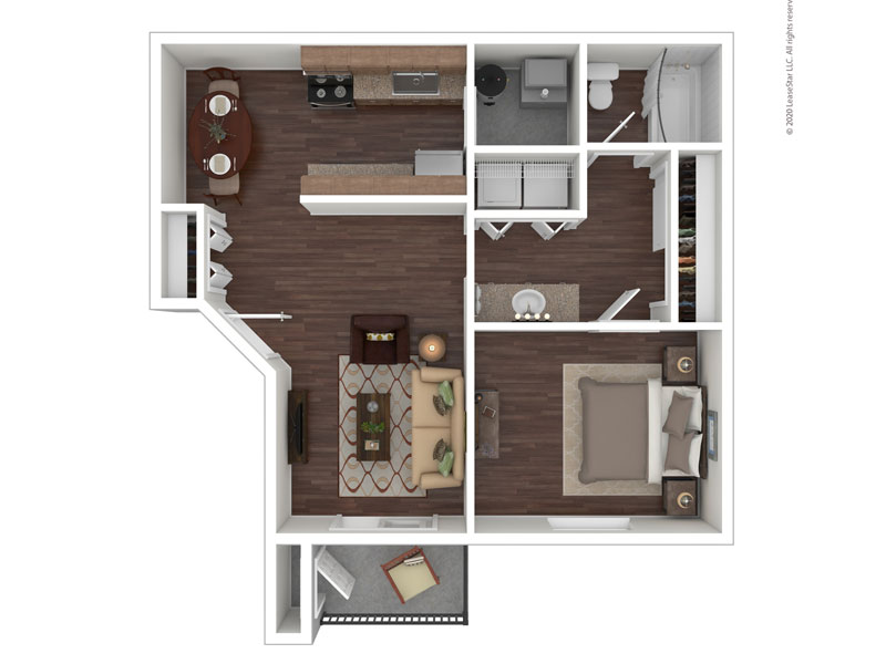 View floor plan image of The Cabin apartment available now