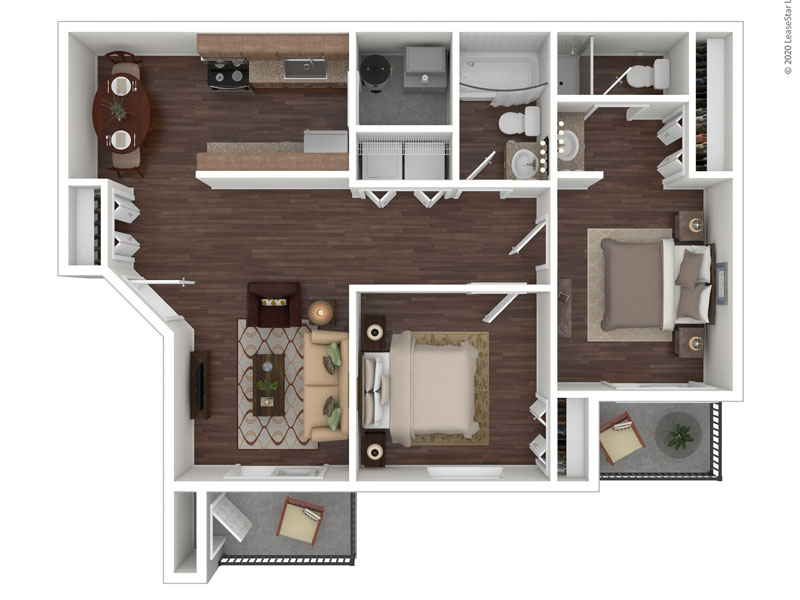 Willow Cove Apartments Floor Plan The Cottage