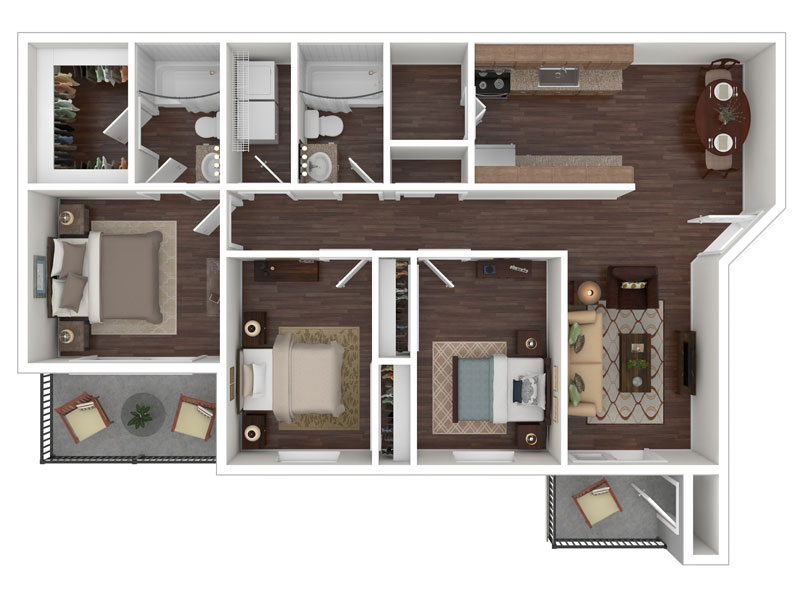 Willow Cove Apartments Floor Plan The Lodge