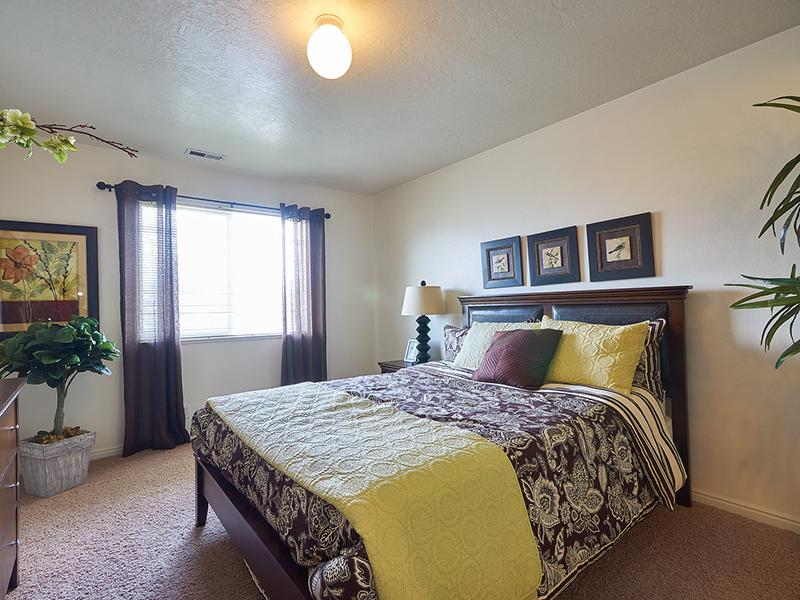 Model Master Bedroom  | Willow Cove Apartments