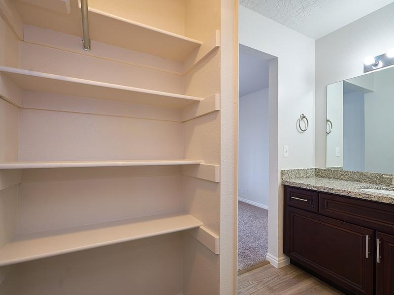 Linen Closet | Willow Cove Apartments