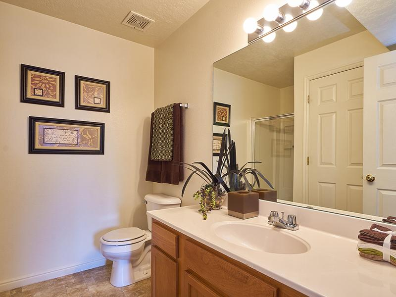 Model Master Bathroom | Willow Cove Apartments