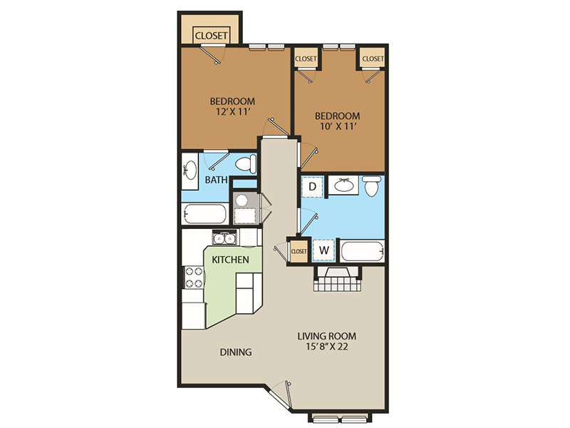 Heather apartment available today at Country Springs in Orem