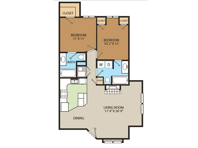 Country Springs Apartments Floor Plan THeMeadow