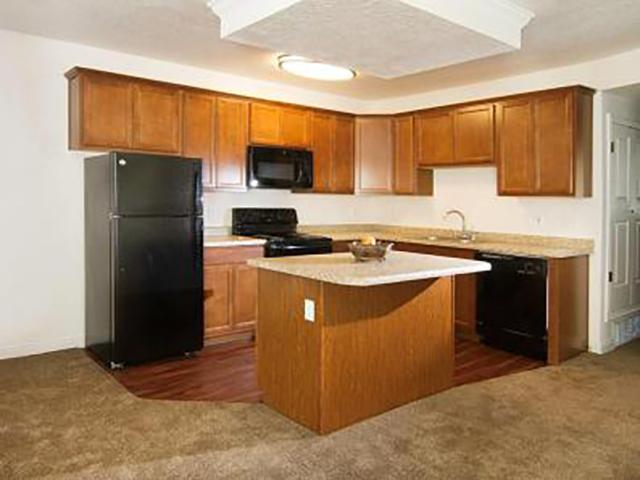 Full Kitchen With Island | Country Springs Apartments