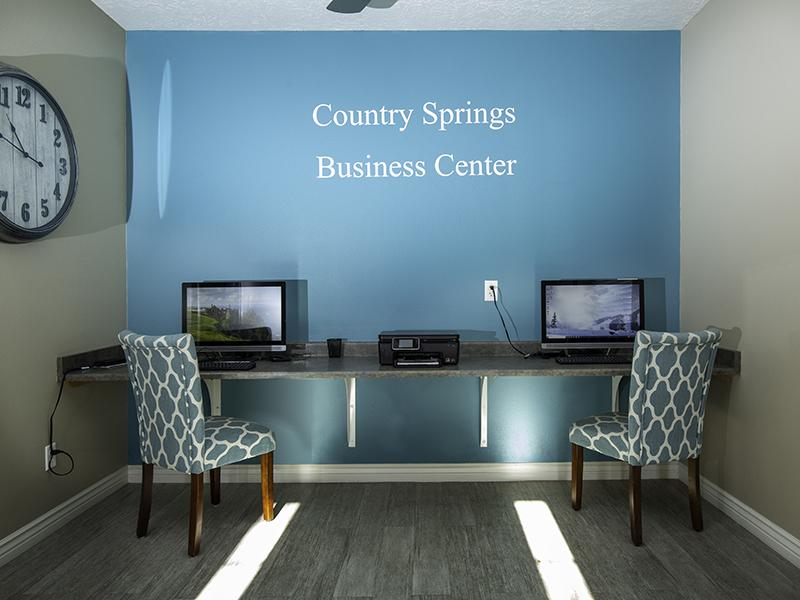 Business Center | Country Springs Apartments