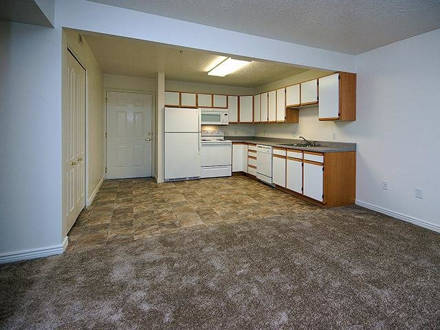 Open Kitchen Space | Coventry Cove Senior Apartments