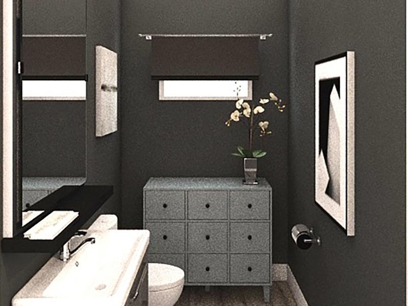 Bathroom | Edge at Fitzsimons Apartments