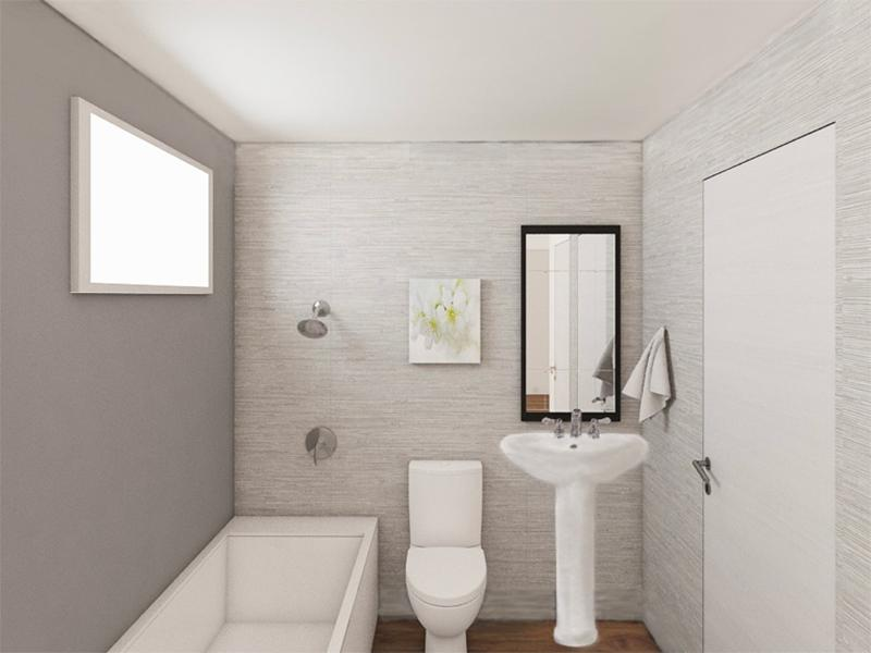 Bathroom Rendering | Edge at Fitzsimons Apartments