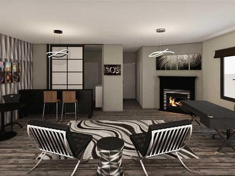 Rendering Living Room | Edge at Fitzsimons Apartments