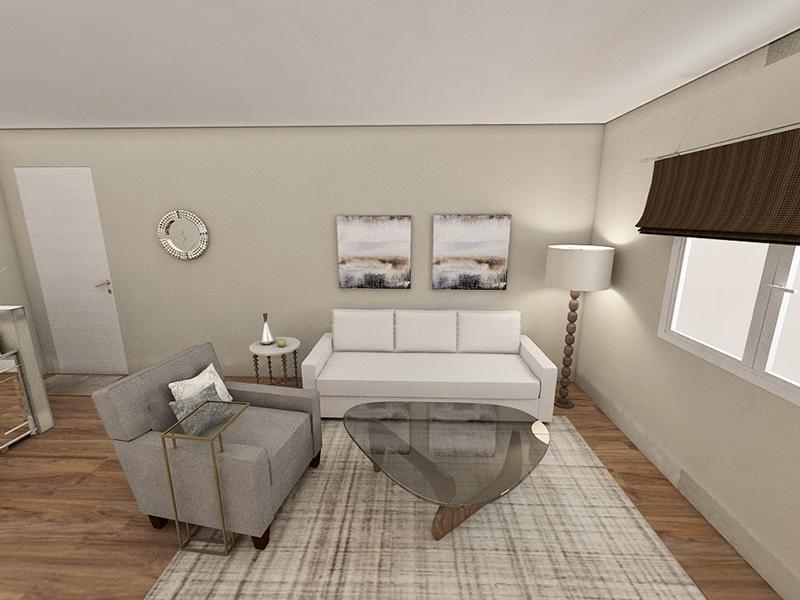 Living Room Rendering | Edge at Fitzsimons Apartments