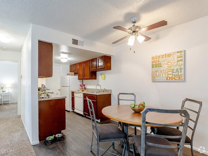 Dining Room & Kitchen | Aspenwood Apartments