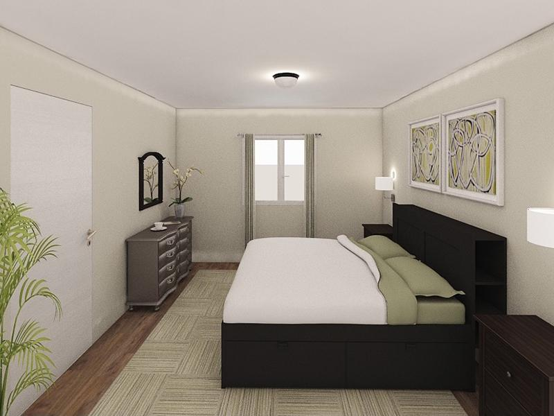 Bedroom Rendering | Edge at Fitzsimons Apartments