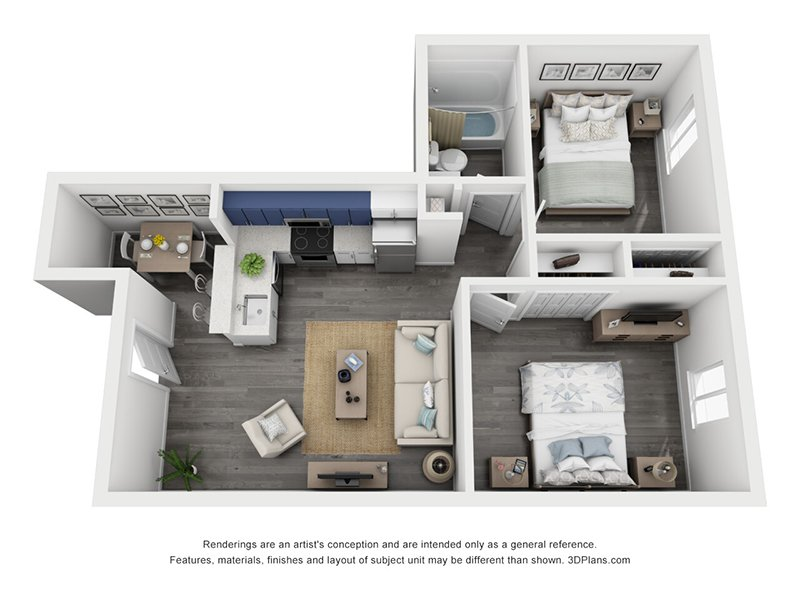 2 Bedroom 1 Bath Small apartment available today at The Jewell in Denver