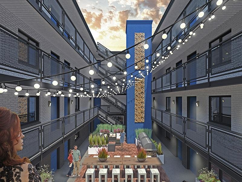Courtyard | The Jewell Apartments