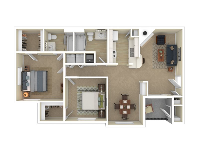 Pleasant Springs Apartments Floor Plan The Boston