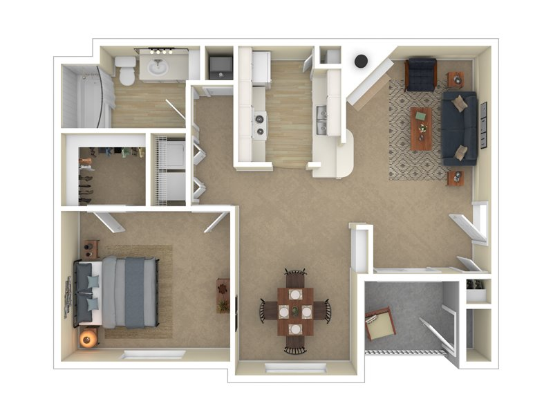 Pleasant Springs Apartments Floor Plan The Providence