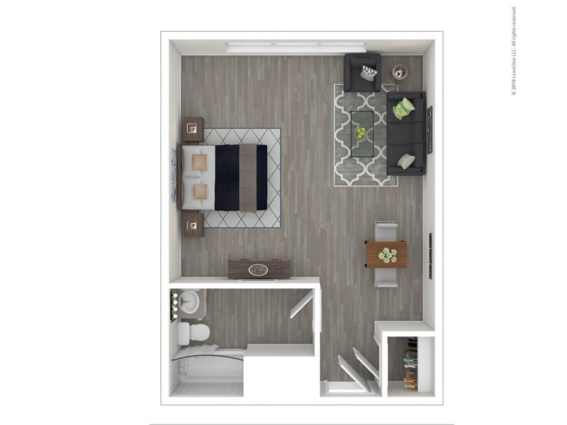 View floor plan image of Efficiency apartment available now