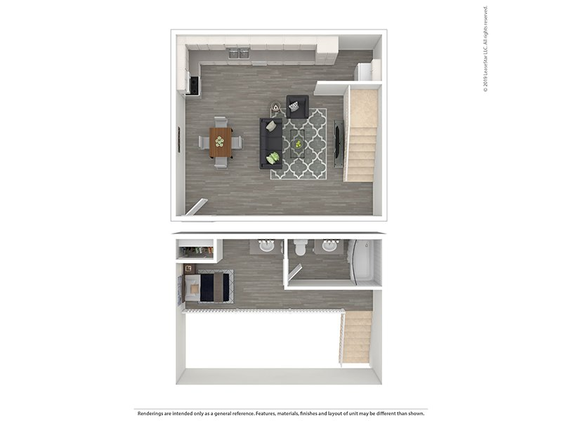 Loft apartment available today at Fillmore Crossing in Colorado Springs