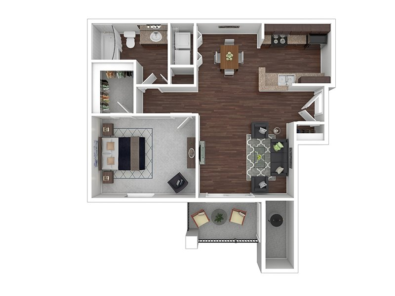 View floor plan image of A1R apartment available now