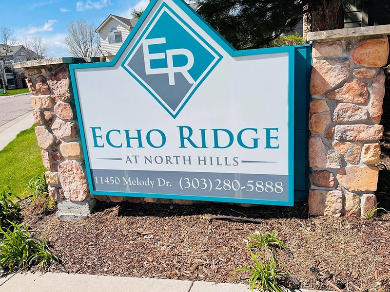 Monument Sign | Echo Ridge at North Hills