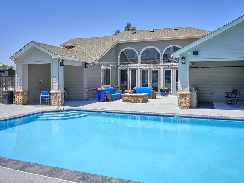 Shimmering Pool | Echo Ridge at North Hills Apartments in Northglenn, CO