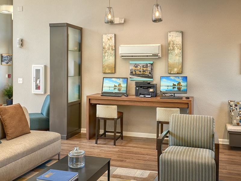 Clubhouse Seating | Echo Ridge at North Hills Apartments in Northglenn, CO