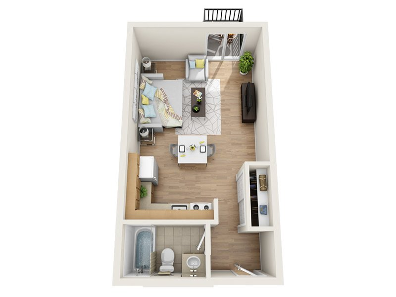 Luxe Tower Apartments Floor Plan A1