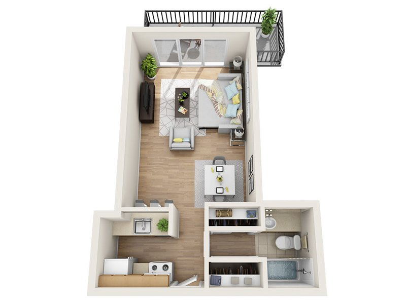 Luxe Tower Apartments Floor Plan A2