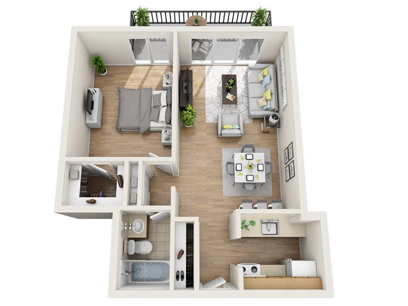 Luxe Tower Apartments Floor Plan B1