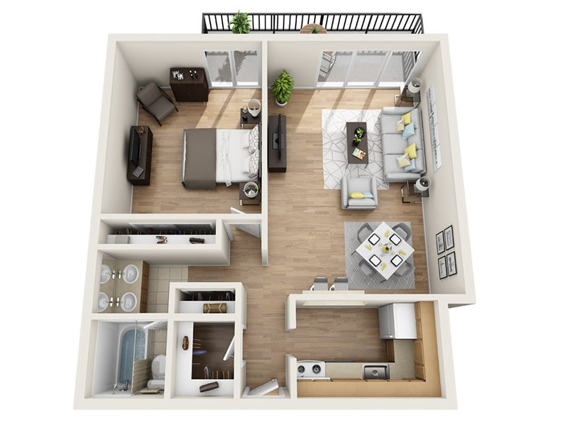 Luxe Tower Apartments Floor Plan B2