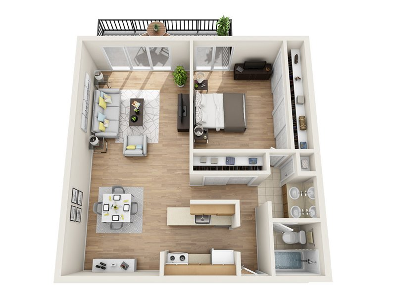 Emerald Towers Apartments Floor Plan B3