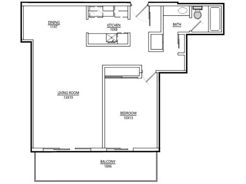 Luxe Tower Apartments Floor Plan B4