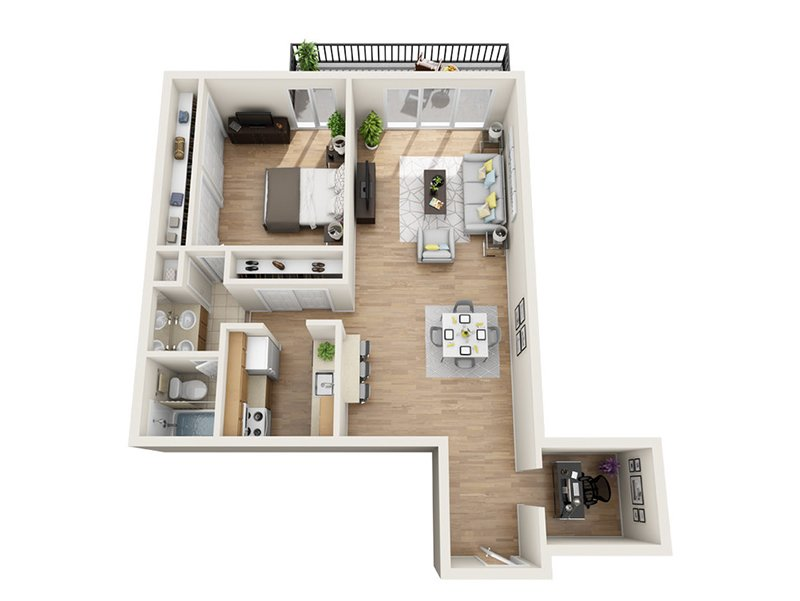 Emerald Towers Apartments Floor Plan B5