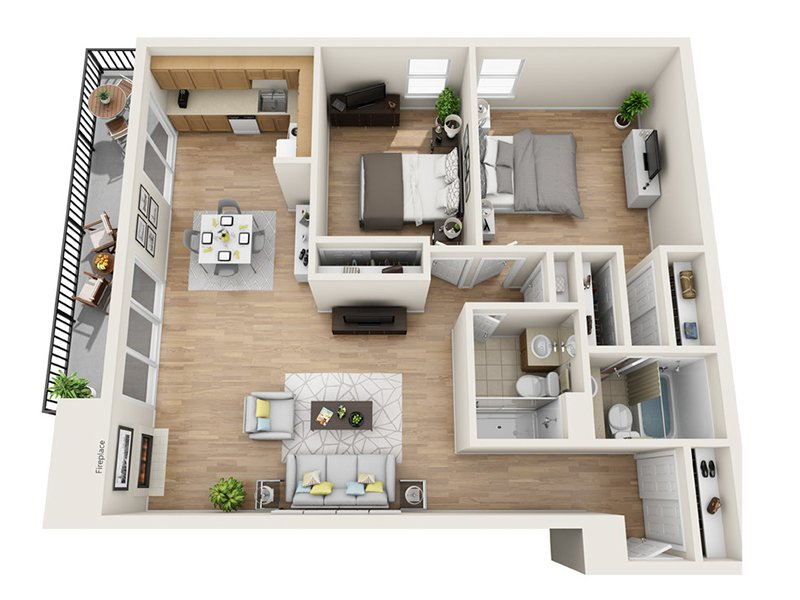 Luxe Tower Apartments Floor Plan C1
