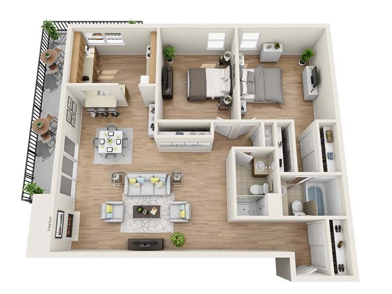 Luxe Tower Apartments Floor Plan C2