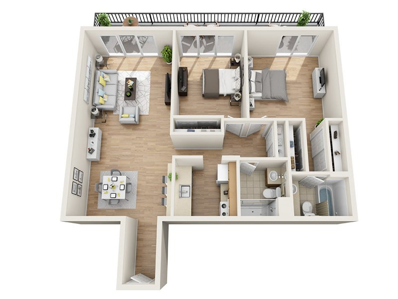 Luxe Tower Apartments Floor Plan C3