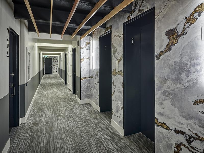hallway | Luxe Towers