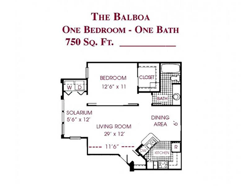 The Balboa apartment available today at Tower at Tropicana in Las Vegas
