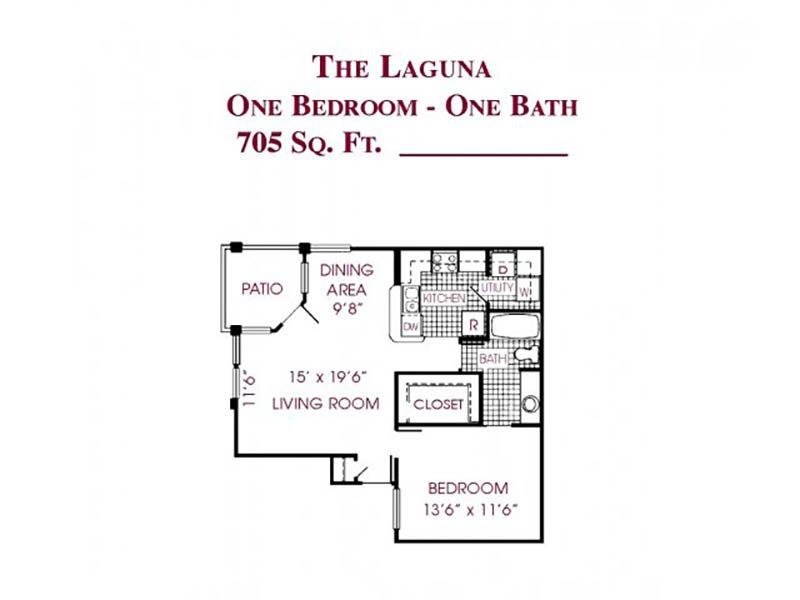 View floor plan image of The Laguna apartment available now