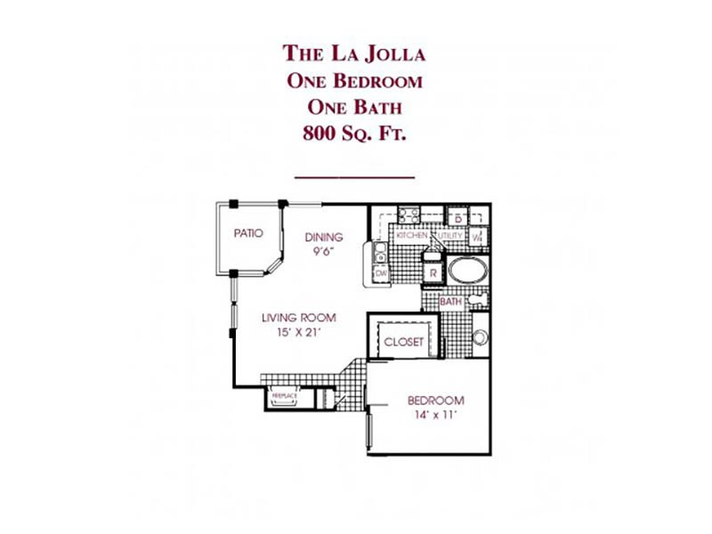 The La jolla apartment available today at Tower at Tropicana in Las Vegas