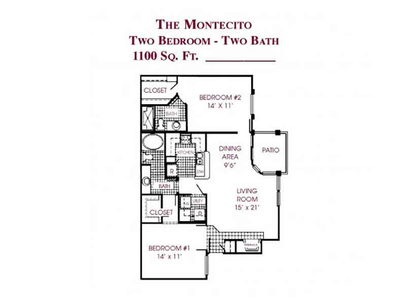 The Montecito apartment available today at Tower at Tropicana in Las Vegas