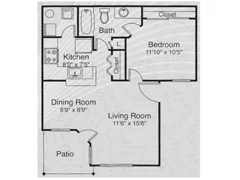 1x1 DCP apartment available today at Cypress Springs in Las Vegas