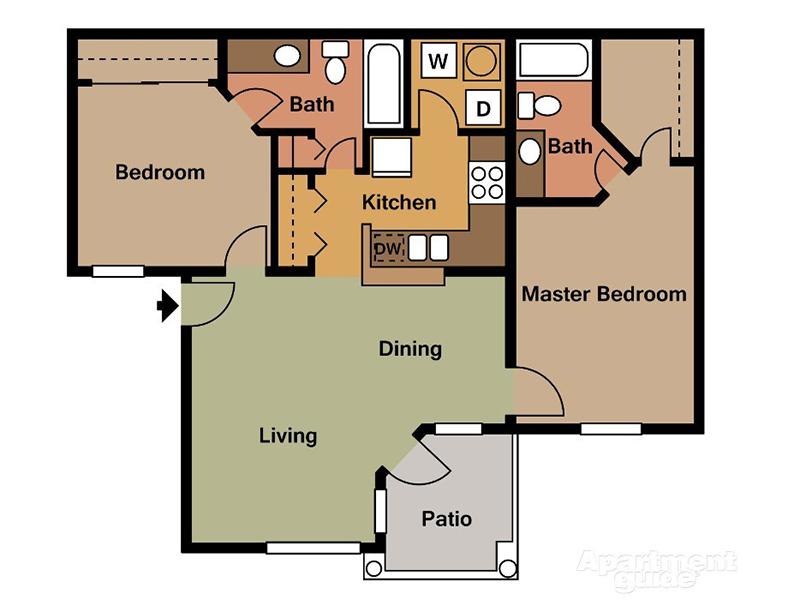 20 Fifty One Apartments Floor Plan 2 Bedroom 2 Bath