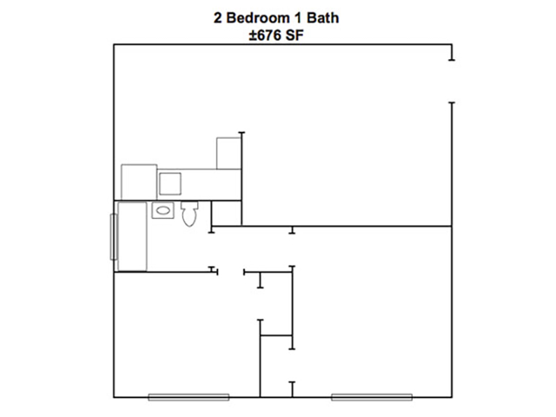 2 Bedroom 1 Bathroom apartment available today at Woodside Place in Mountain View