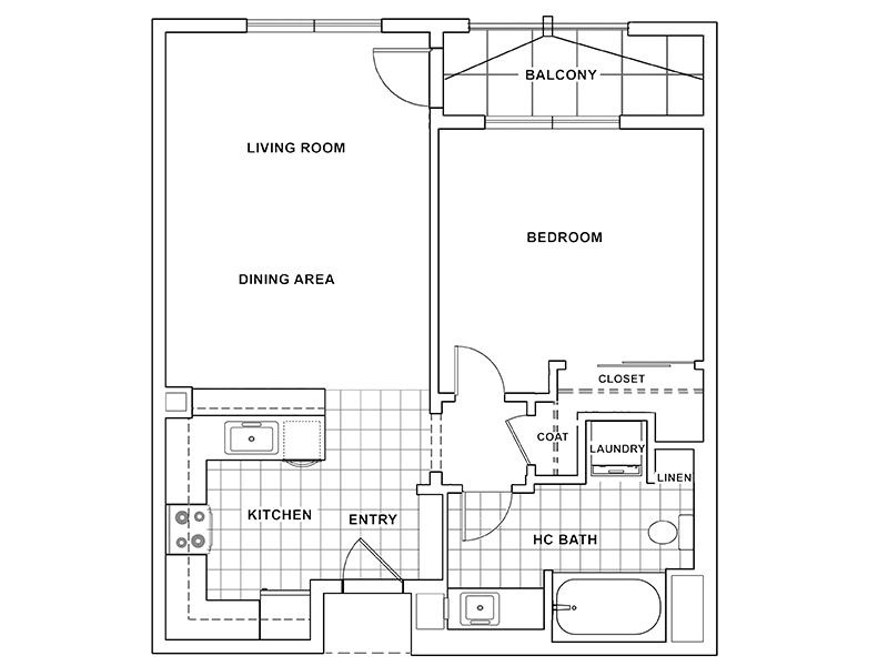 1 Bedroom 1 Bathroom A apartment available today at The Renaissance at City Center in Carson